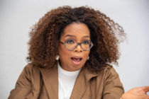 Oprah Winfrey open-mouthed in shock