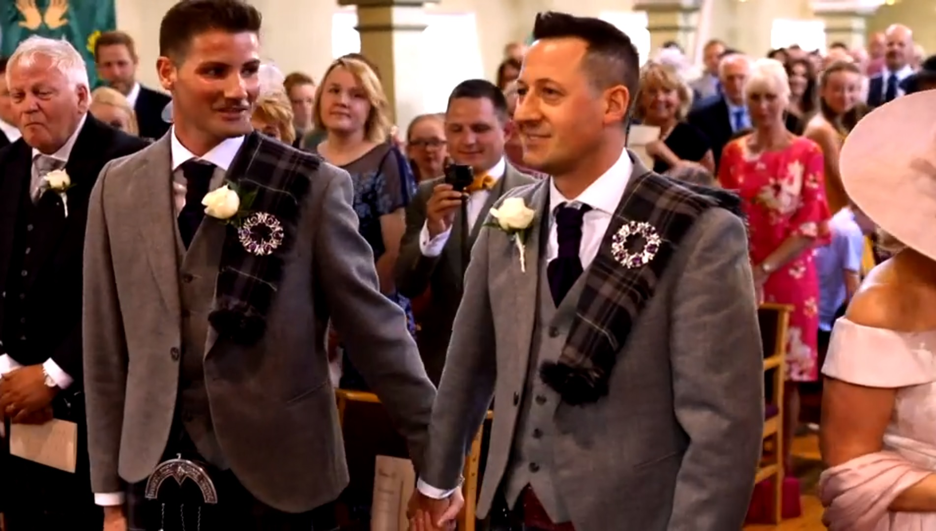 Jamie Wallace and Ian McDowall on the BBC's Songs of Praise