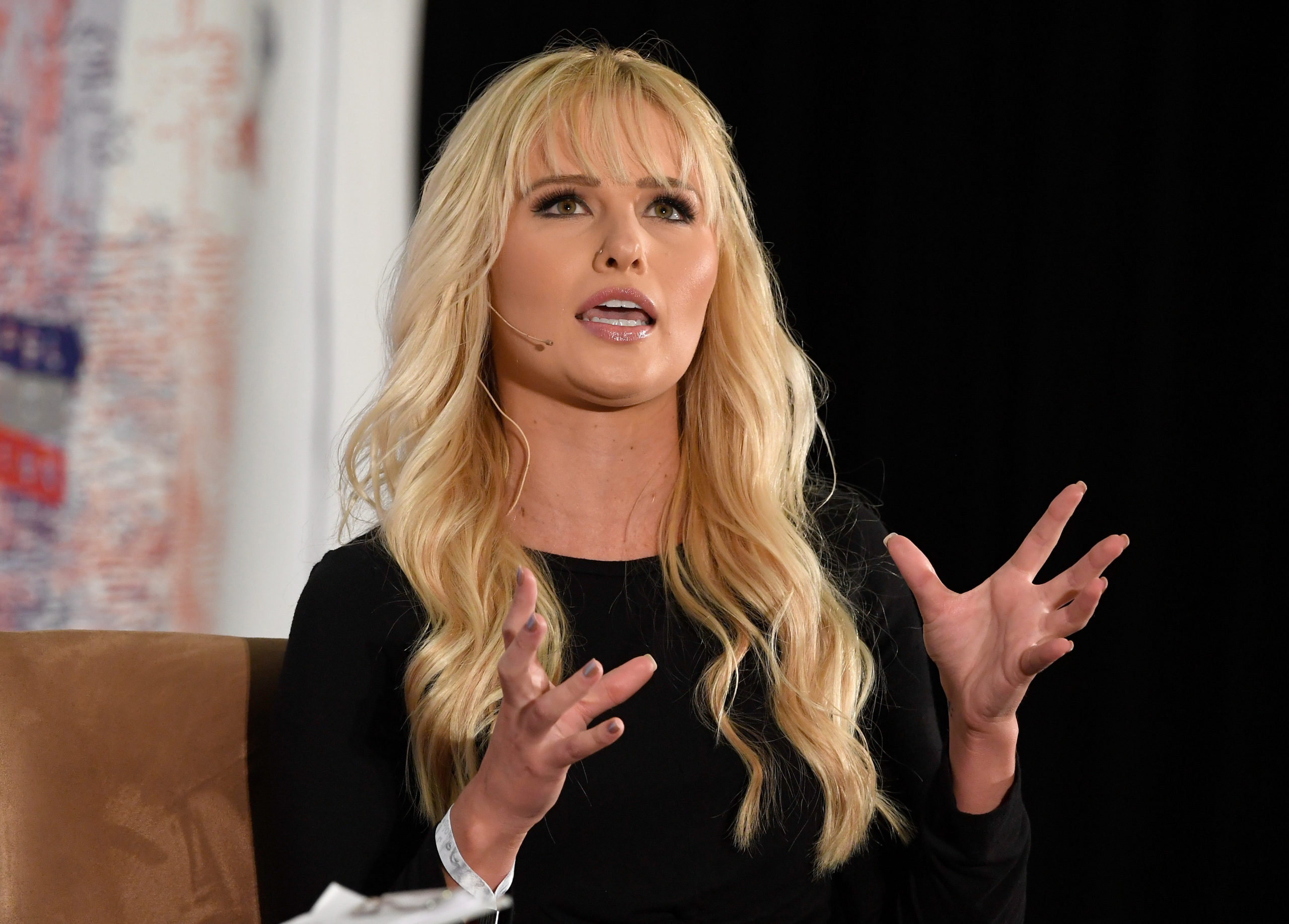 Tomi Lahren speaks onstage at Politicon 2018 at Los Angeles Convention Center on October 21, 2018.